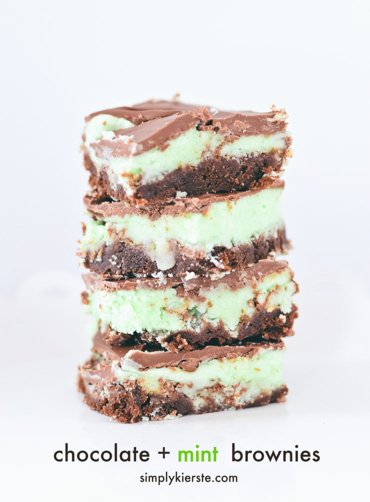 The Best Mint Chocolate Brownies | simply kierste.com
