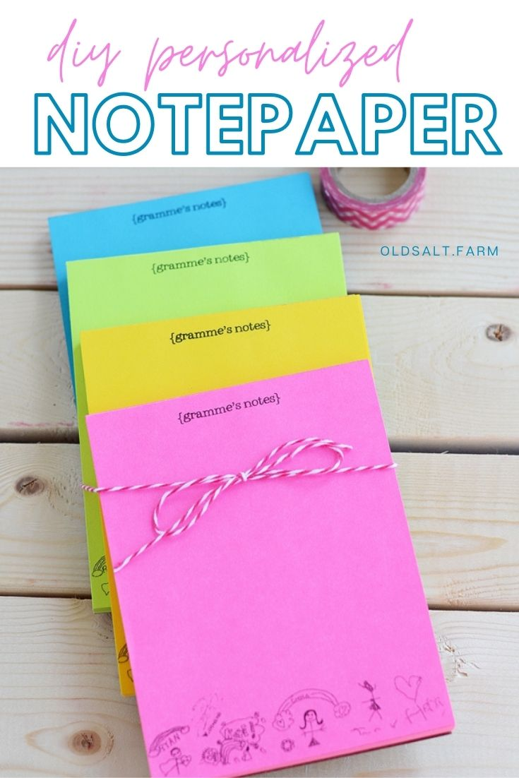 personalized notepaper in different colors