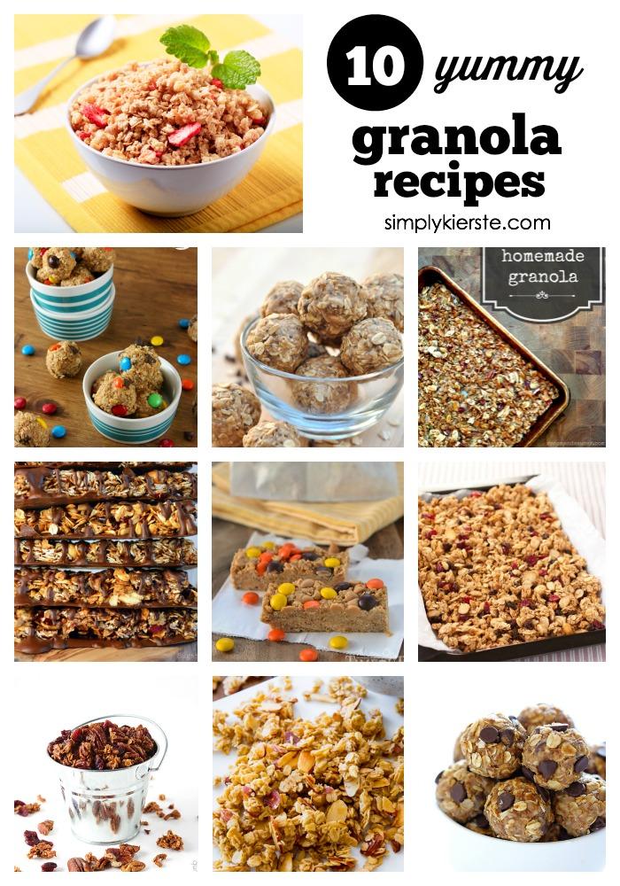 10 yummy granola recipes | oldsaltfarm.com