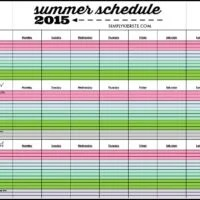 Keep your summers organized with the printable 2015 Summer Schedule | free printable | oldsaltfarm.com