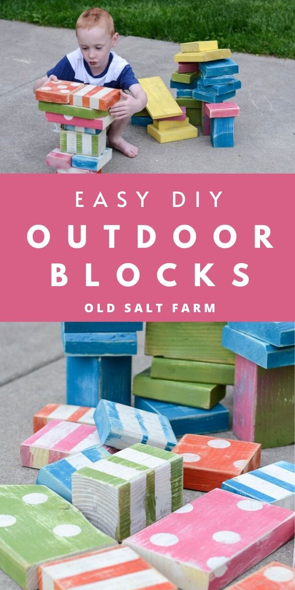 Cheap & easy DIY outdoor wooden blocks