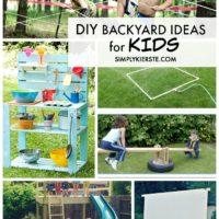 Awesome DIY Backyard ideas for Kids #summerideas #backyardideas #outdoorspaces #outdoorideas #outdoorsforkids #backyarddiy #backyardfun #funbackyardideas