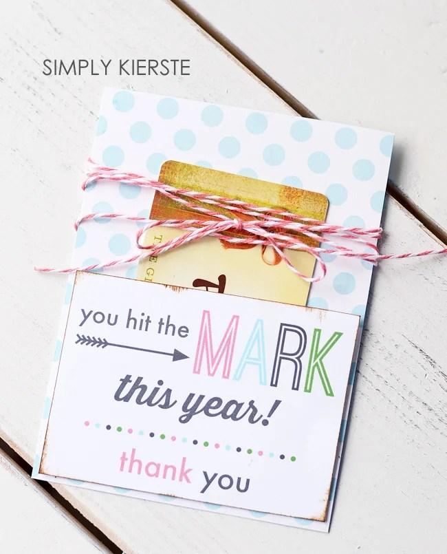 Teacher Gift Card Holder | FREE printable | oldsaltfarm.com