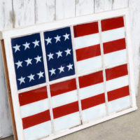 Painted Flag Window