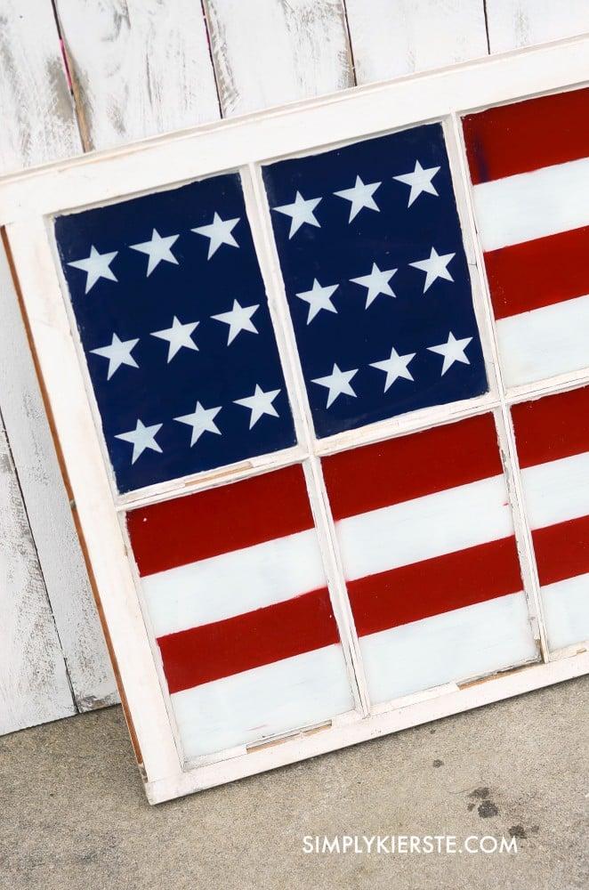 Painted Flag Window | oldsaltfarm.com