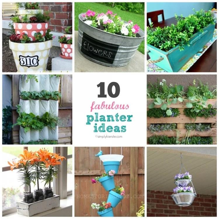 10 Fabulous Flower Planter Ideas | oldsaltfarm.com