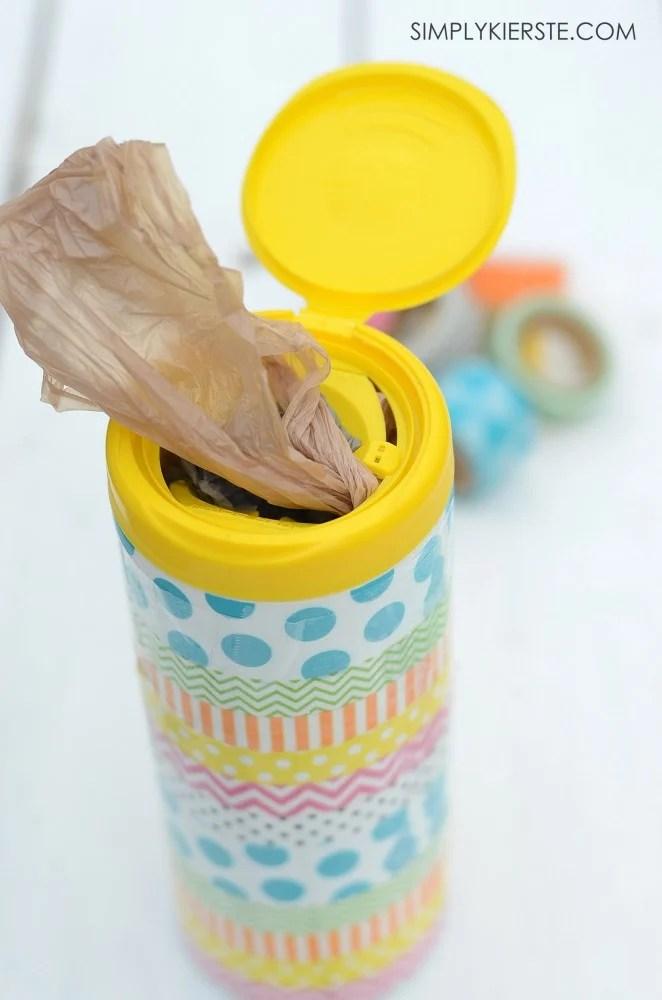 Washi tape grocery container | oldsaltfarm.com