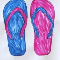Free flip flops coloring page | oldsaltfarm.com