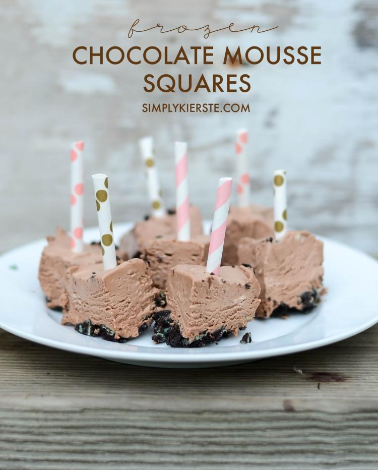 Frozen chocolate mousse bites | oldsaltfarm.com