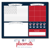 Keep kids entertained with these darling 4th of July placemats! | oldsaltfarm.com