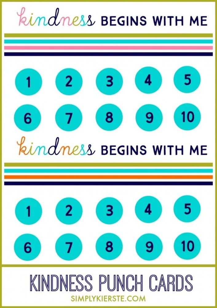 Are your kids arguing? Try Kindness Punch Cards!   oldsaltfarm.com