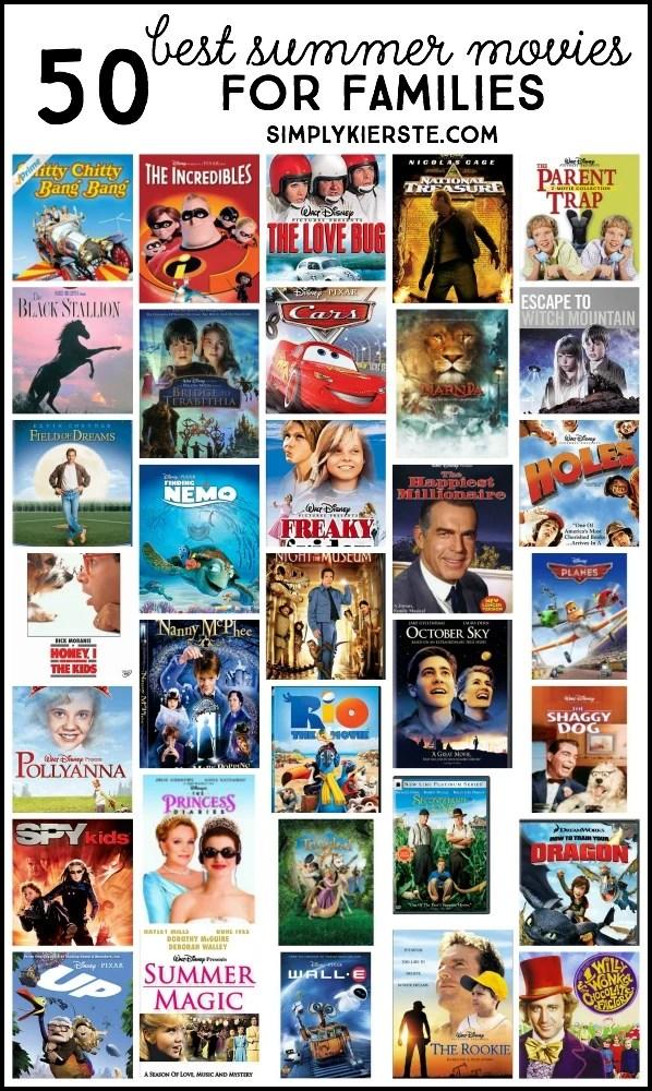 50 Best Summer Movies for Families | oldsaltfarm.com