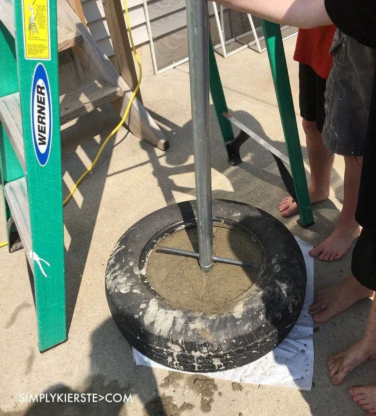 Easy DIY Tetherball Set | oldsaltfarm.com