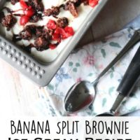 Banana Split Brownie Ice Cream | oldsaltfarm.com