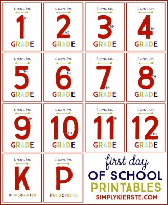 First Day of School Free Printables | oldsaltfarm.com
