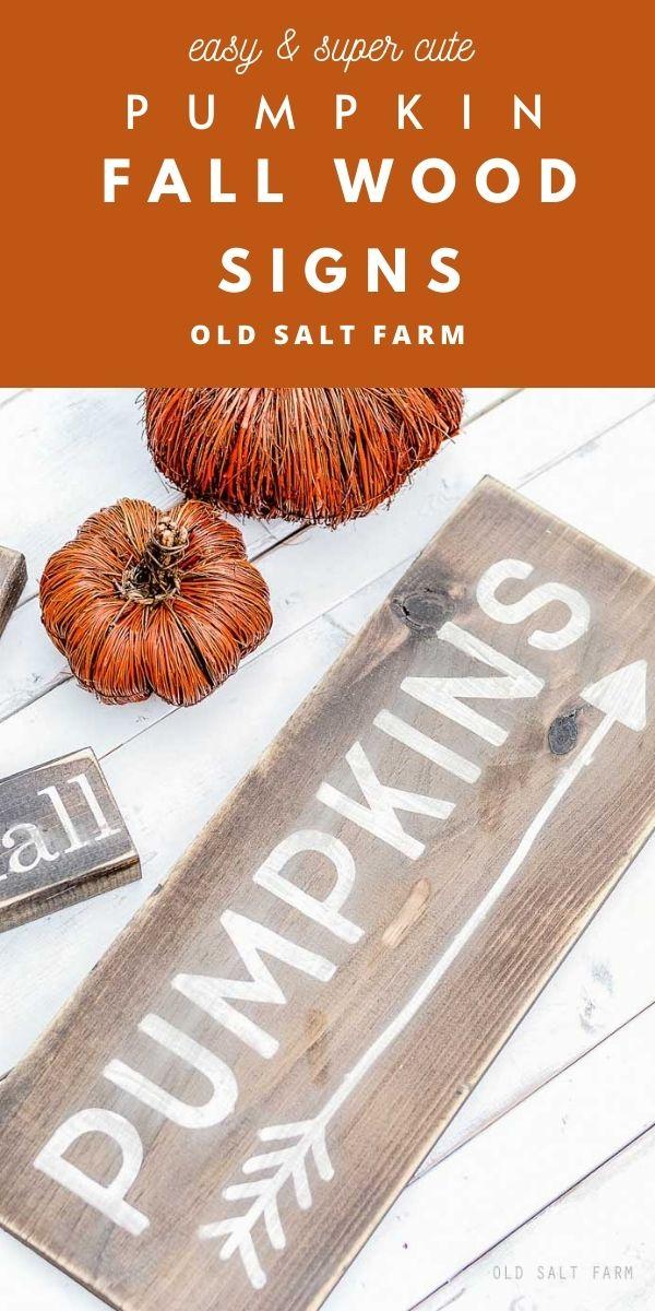 DIY Pumpkins Fall Sign