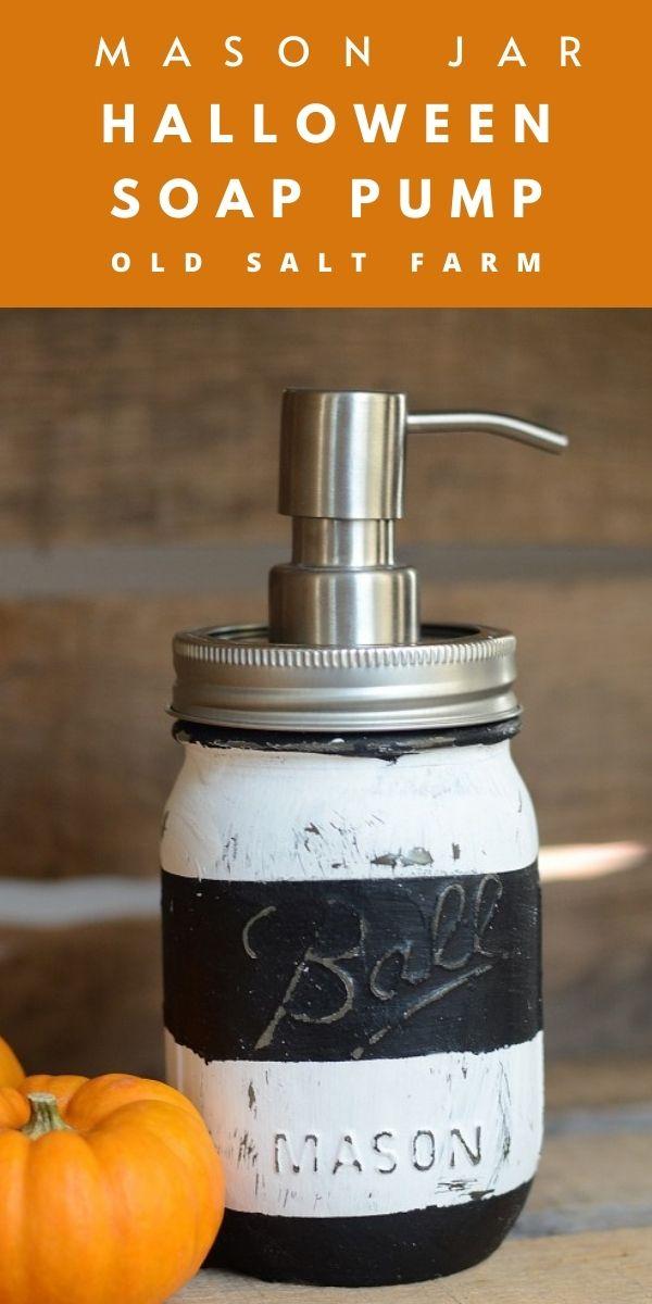 Halloween Mason Jar Soap Pump