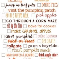 Fall Bucket List | Free Printable | oldsaltfarm.com