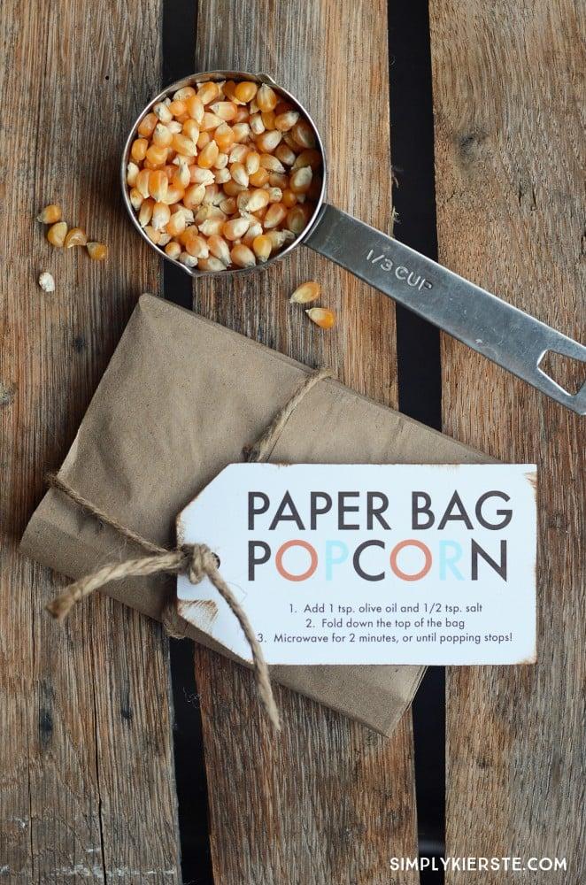 Paper Bag Popcorn | oldsaltfarm.com
