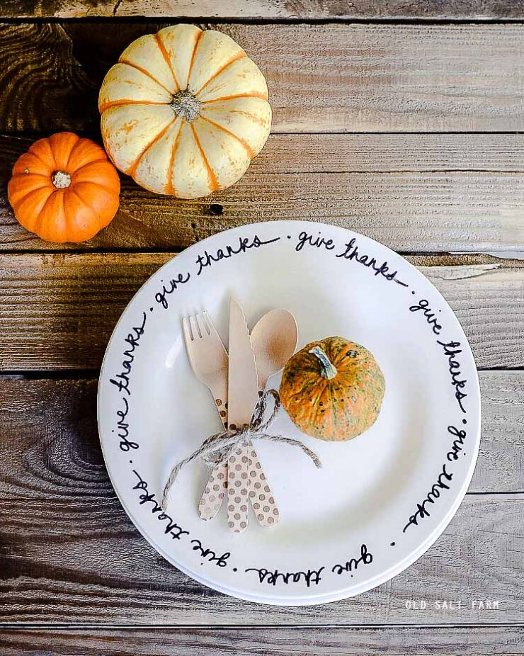 DIY Thanksgiving Plates