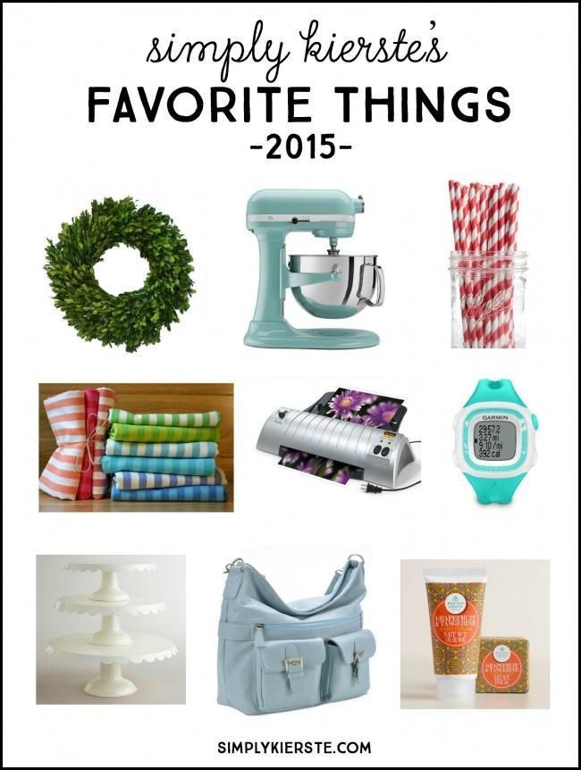 Simply Kierste's Favorite Things 2015 | simplyikierste.com