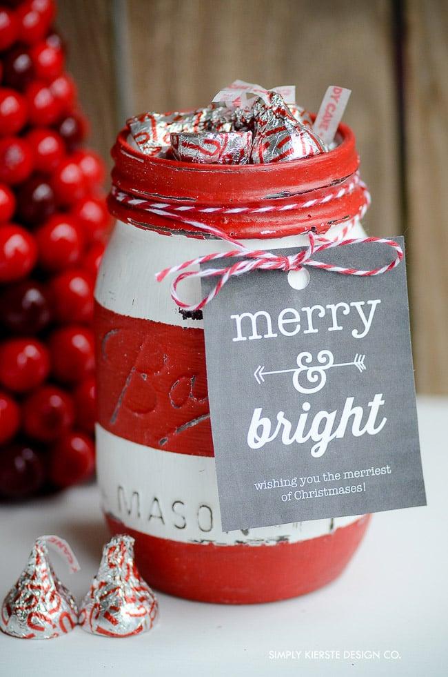 Red Striped Mason Gift Jar | Soap Dispenser | oldsaltfarm.com #masonjargift #stripedmasonjars #masonjargiftideas #christmasgiftjar