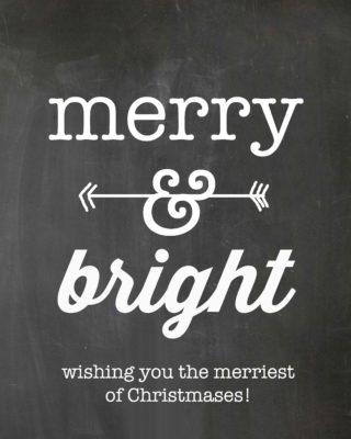 chalkboard tag merry & bright 1