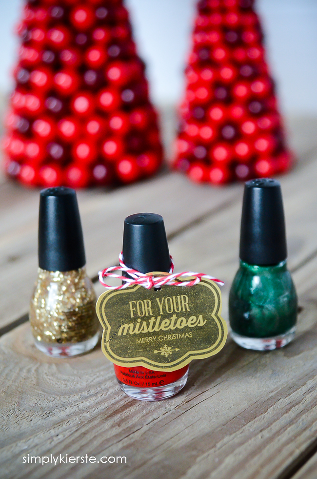"For your ""mistle""toes nail polish gift idea & free printable   oldsaltfarm.com"