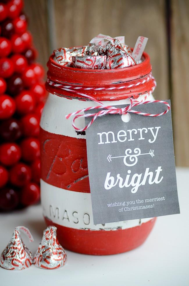 Christmas Mason Jar Soap Dispenser & Gift Jar | oldsaltfarm.com
