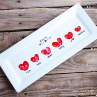 Heart Thumbprint Platter