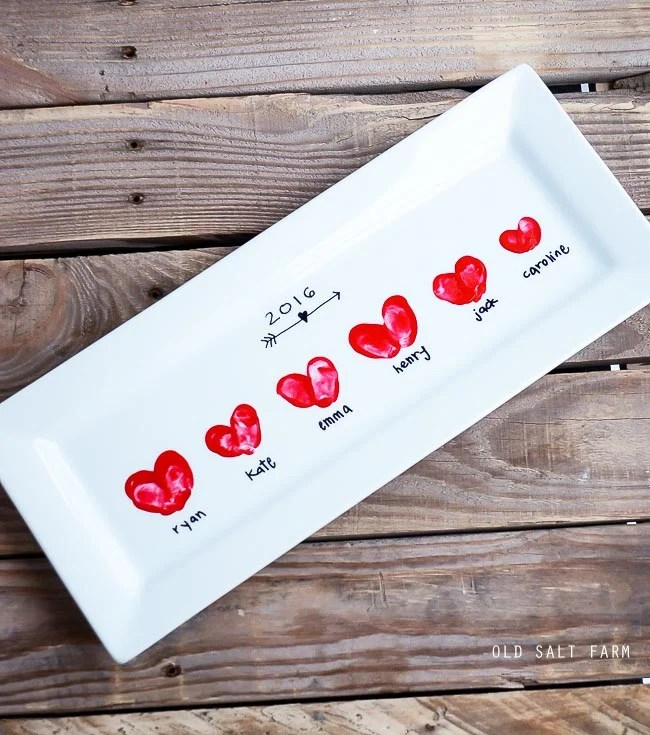 Heart Thumbprint Platter