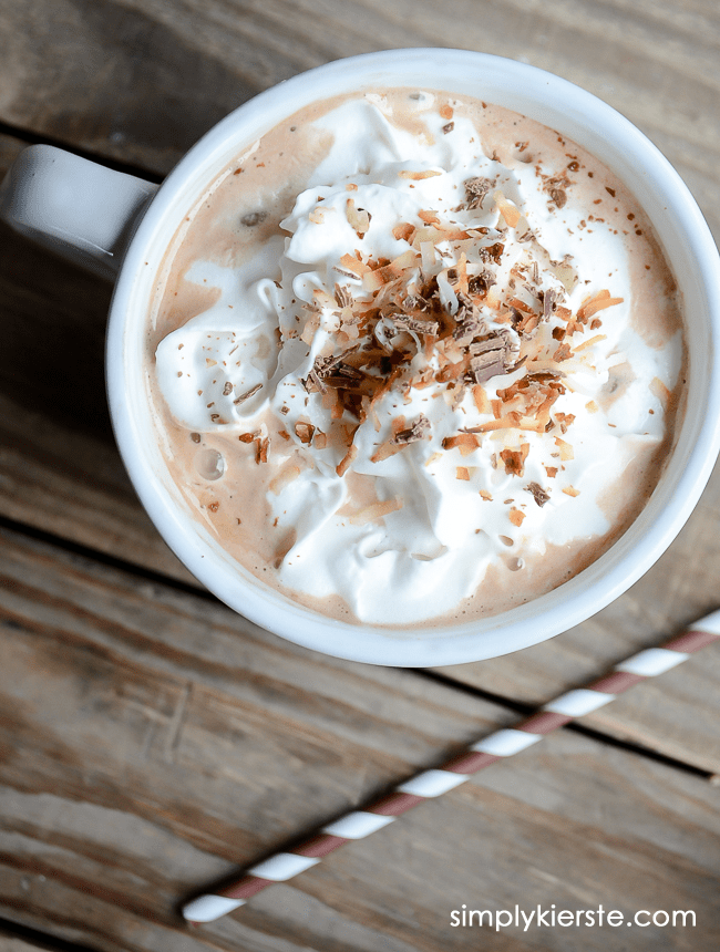 Toasted Coconut Hot Chocolate | oldsaltfarm.com