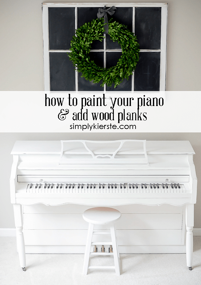 how to paint a piano and add wood planks | oldsaltfarm.com