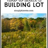 How to Select a Building Lot   Building Old Salt Farm series   oldsaltfarm.com