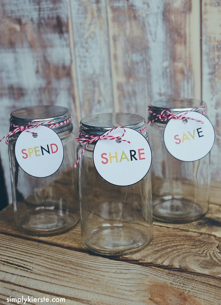 save spend share savings jar for kids | oldsaltfarm.com