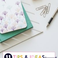 11 Tips & Ideas for Busy Moms | oldsaltfarm.com