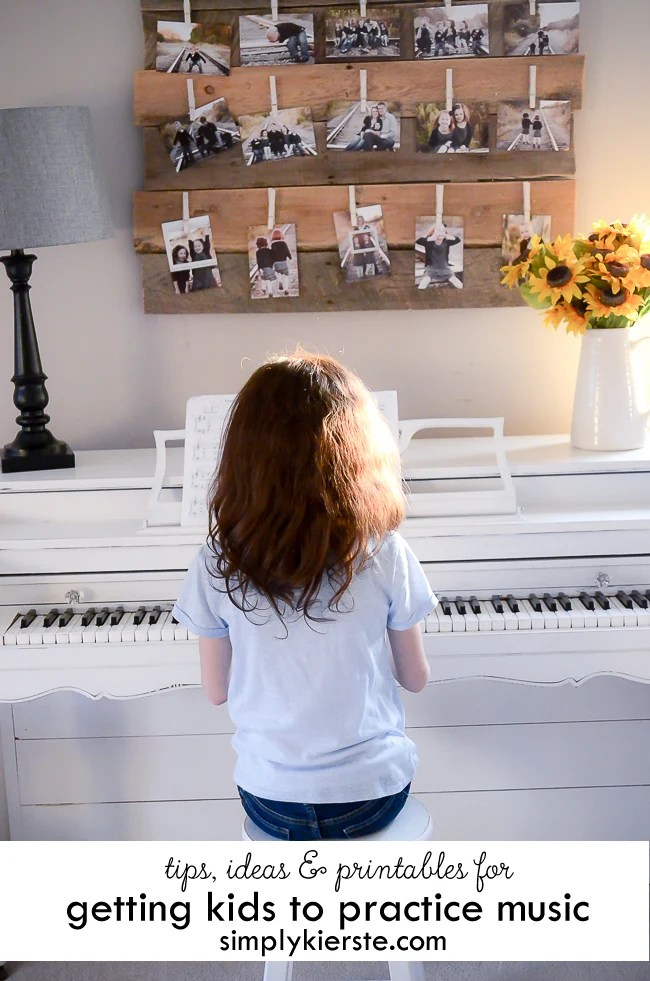 Tips, Ideas and Printables for Getting Kids to Practice Music | oldsaltfarm.com