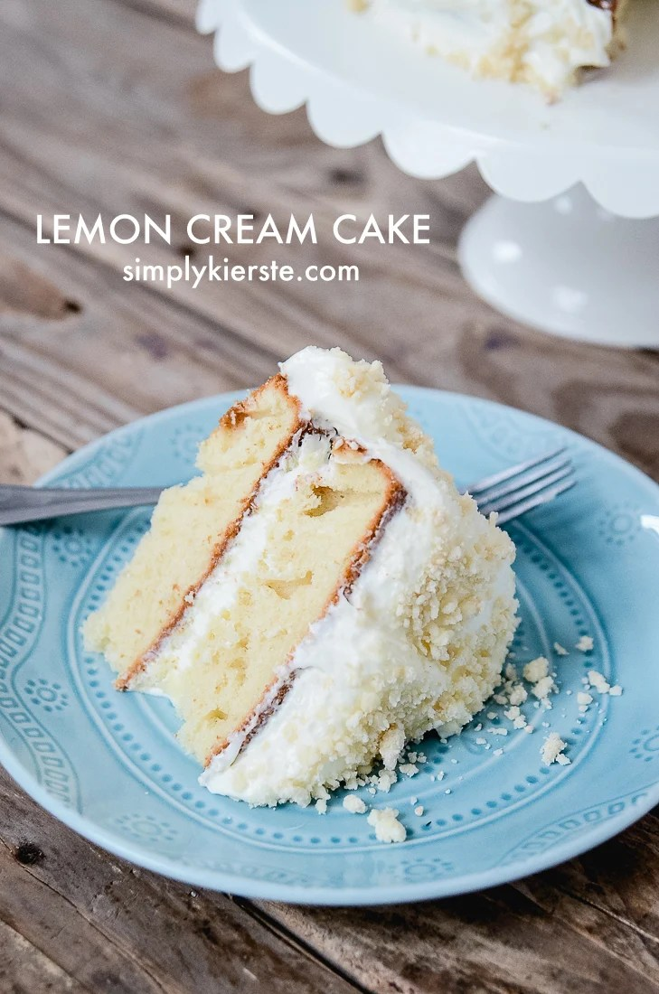 Lemon Cream Cake | oldsaltfarm.com