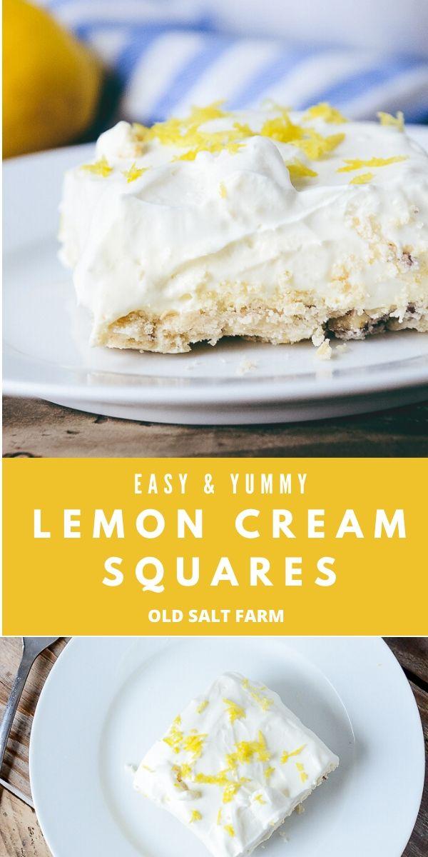 Lemon Cream Shortbread Square