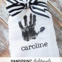 Handprint Dishtowels | oldsaltfarm.com