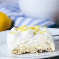 Lemon Cream Shortbread Squares
