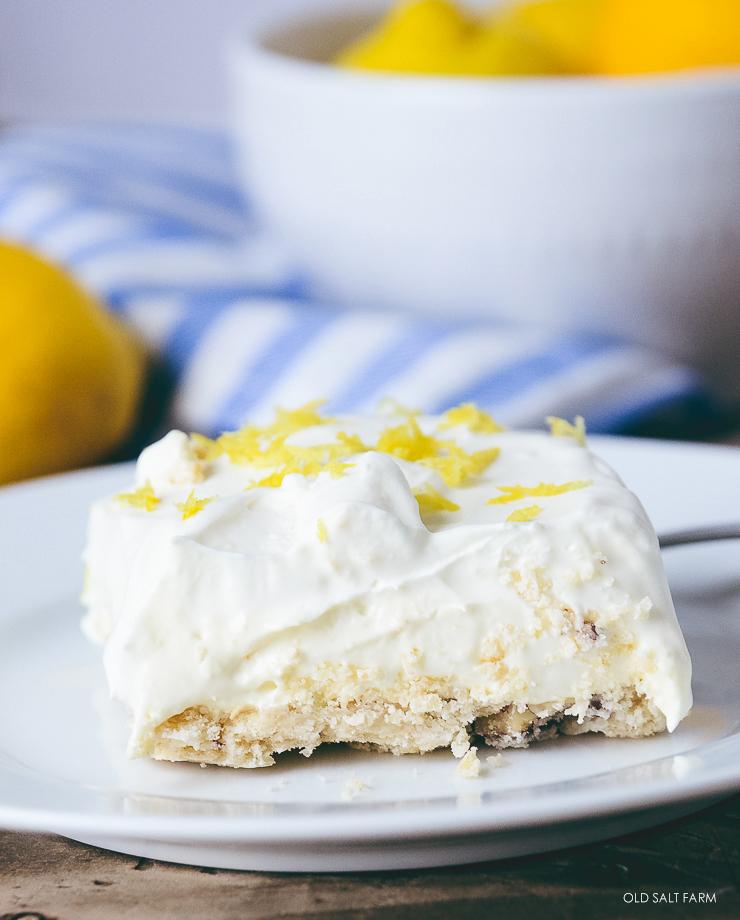 Lemon Cream Shortbread Squares