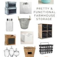 Pretty & Functional Farmhouse Storage Ideas | oldsaltfarm.com
