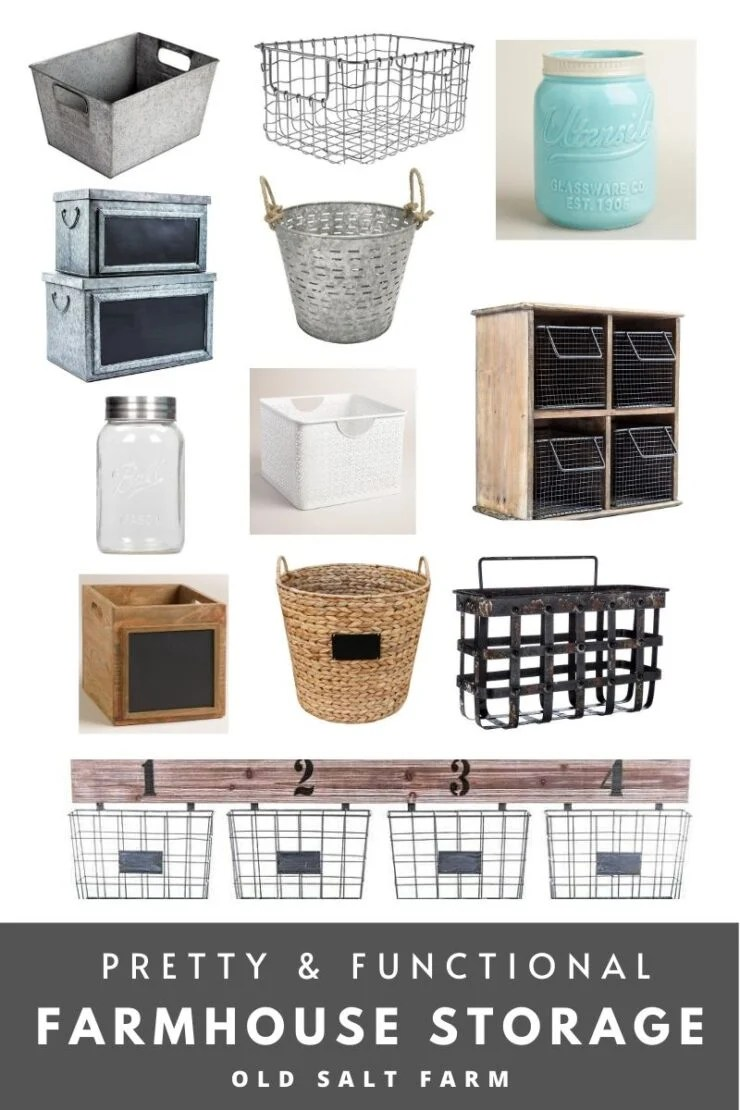 Pretty and Functional Farmhouse Storage