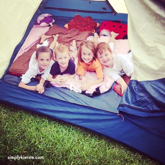 Camping in the backyard | Summer on a budget | oldsaltfarm.com