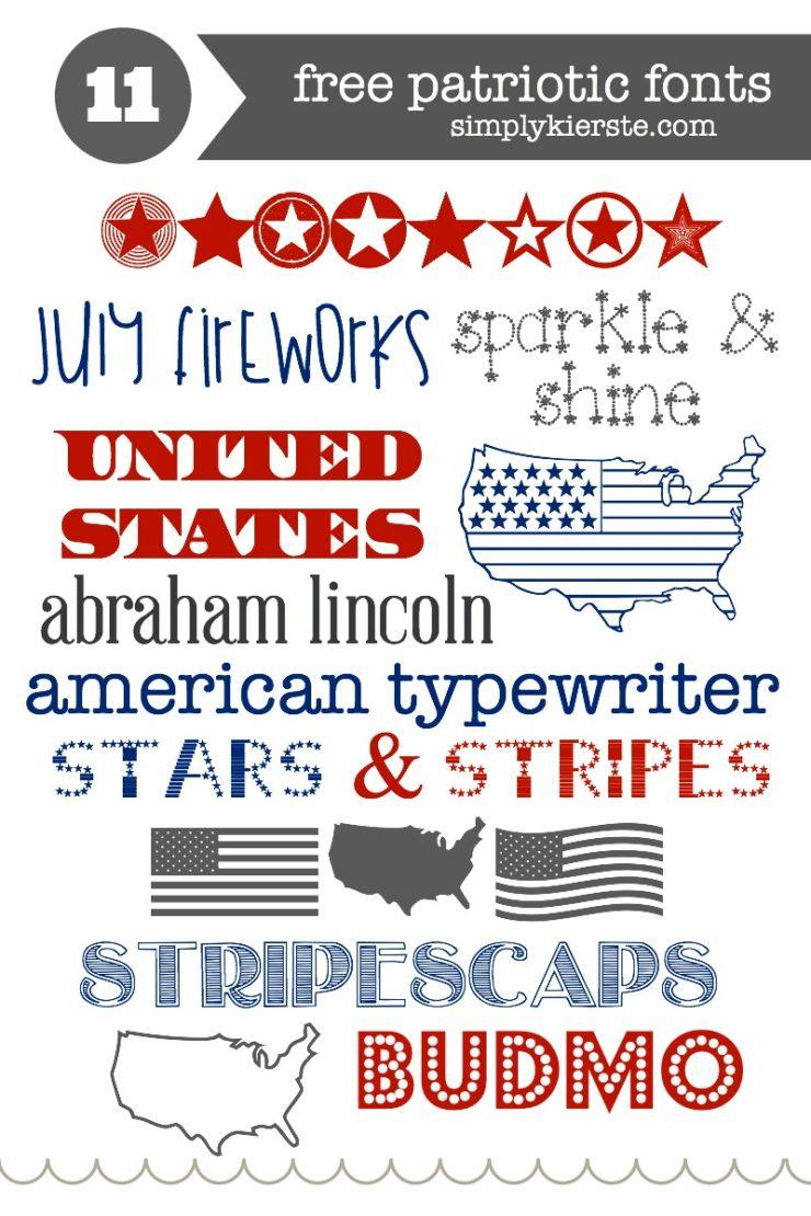 Favorite & Free Patriotic Fonts | oldsaltfarm.com
