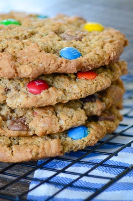 Jumbo Monster Cookies   oldsaltfarm.com