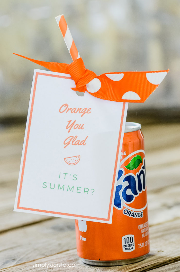 Orange You Glad It's Summer | Free Printable & Gift Idea | oldsaltfarm.com