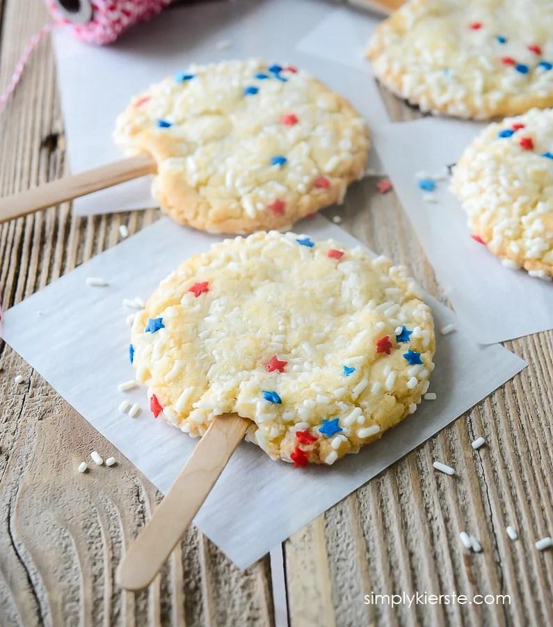 Patriotic Sprinkle Cookies   4th of July   oldsaltfarm.com