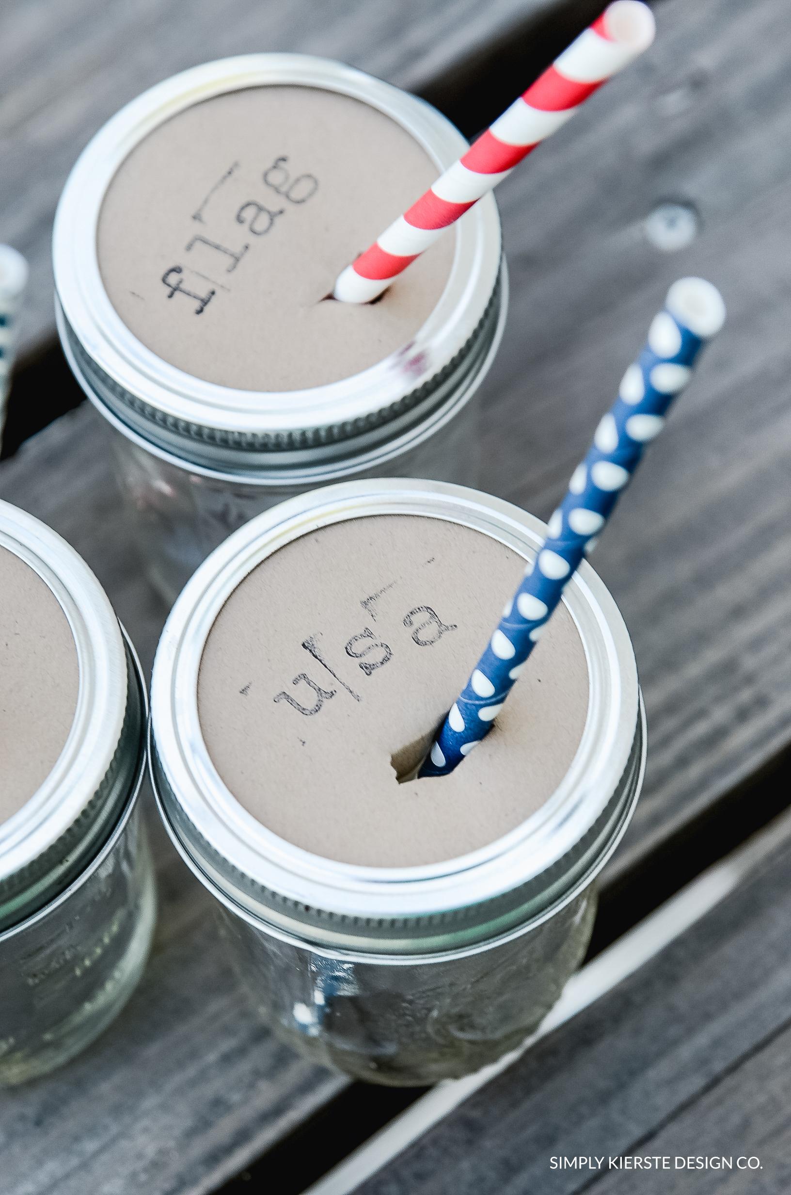 Mason Jar Drink Toppers
